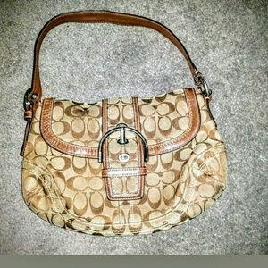 Coach Handbag Multi-Color Tan/Brown 10297